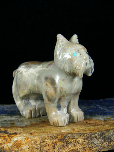 Picasso Marble Bobcat Zuni Fetish by Cody Nastacio - PuebloDirect.com - 1