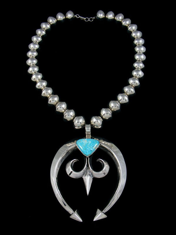 Navajo sterling silver sandcast number eight turquoise naja navajo sterling silver sandcast number eight turquoise naja necklace aloadofball Gallery