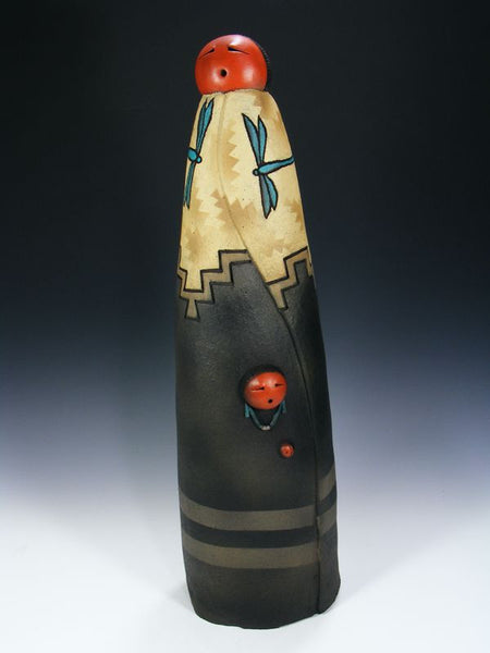 Navajo Clay Sculpture by John Whiterock - PuebloDirect.com - 1