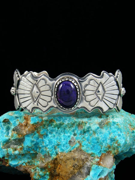 Native American Indian Jewelry Sterling Silver Sugilite Bracelet