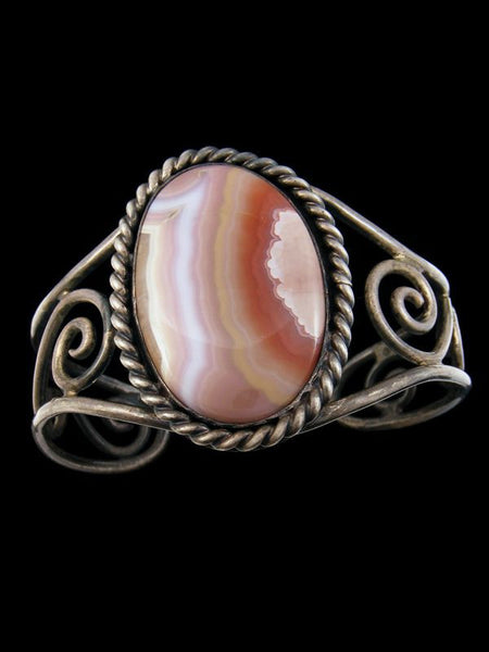 Old Estate Indian Agate Bracelet by Vintage Jewelry - PuebloDirect.com