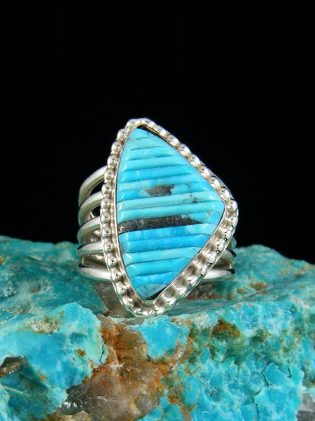 Turquoise Inlay Ring, Size 6