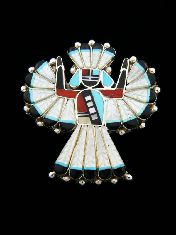 Zuni Knifewing Pin/Pendant by Michelle Peina - PuebloDirect.com