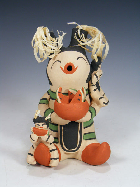 Clay Clown Koshare Jemez Pueblo 2 Baby Storyteller