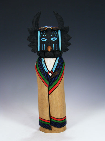 Reversible Crow Mother and Crow Hopi Kachina Doll