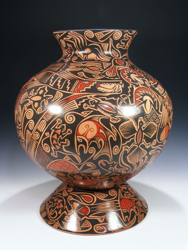 Mata Ortiz Hand Coiled Pottery by Gloria Hernandez - PuebloDirect.com - 1