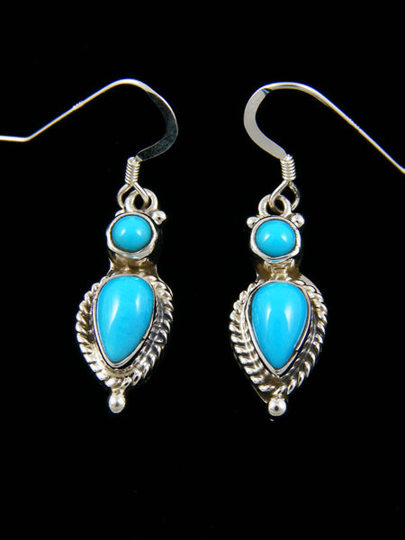 Turquoise Tear Drop Earrings by Mark Barney - PuebloDirect.com