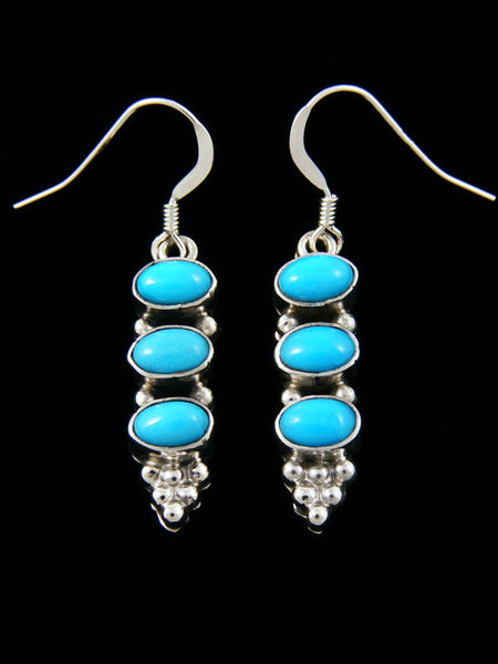 Three stone Turquoise Earrings by Annie Spencer - PuebloDirect.com