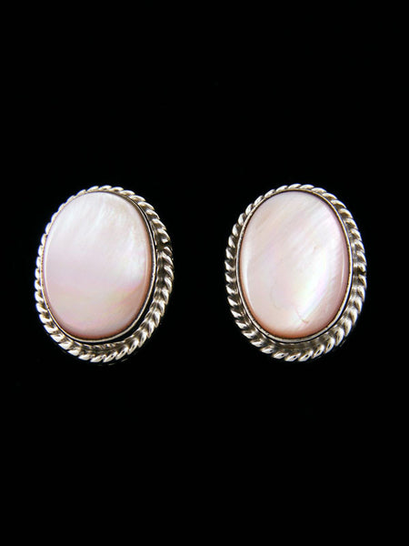 Pink Shell Earrings by Navajo Artist - PuebloDirect.com