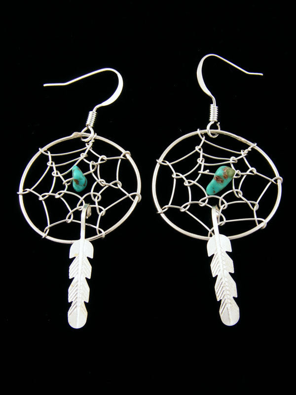 Dreamcatcher Earrings by Helena Yazzie - PuebloDirect.com