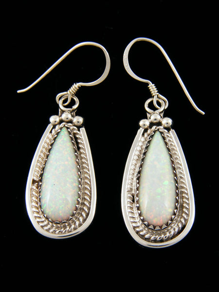Opalite Earrings by Navajo Artist - PuebloDirect.com