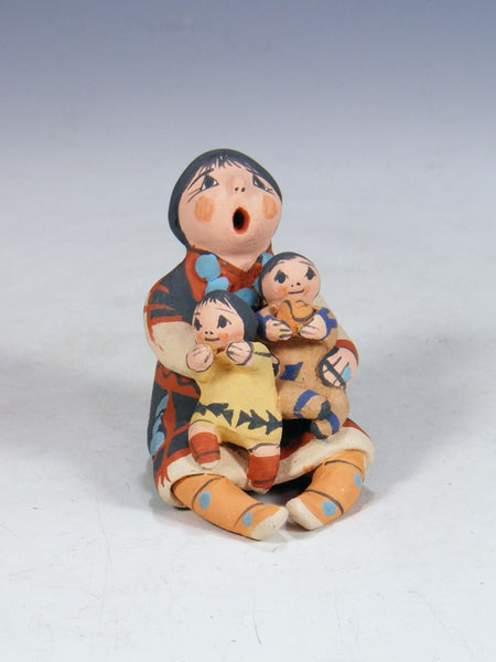 Jemez Pueblo Pottery 2 Baby and Mother Storyteller Doll