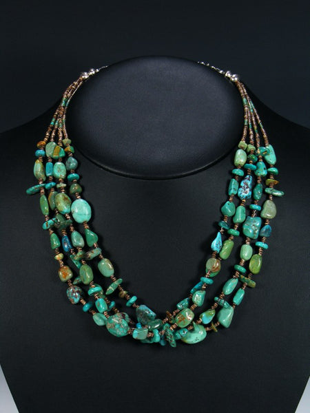 Native American Indian Turquoise Beaded Necklace