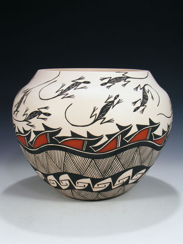 Acoma Pueblo Hand Coiled Pottery by Andy Juanico - PuebloDirect.com - 1