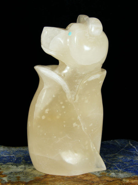 Marble Bear Zuni Fetish by Brian Yatsattie - PuebloDirect.com - 1