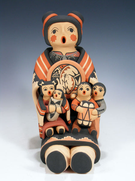 Jemez Pueblo Pottery Storyteller by Linda Fragua - PuebloDirect.com - 1