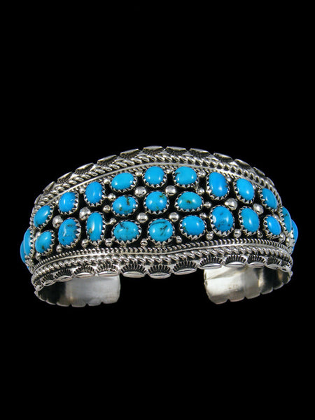 Native American Sleeping Beauty Turquoise Cuff Bracelet