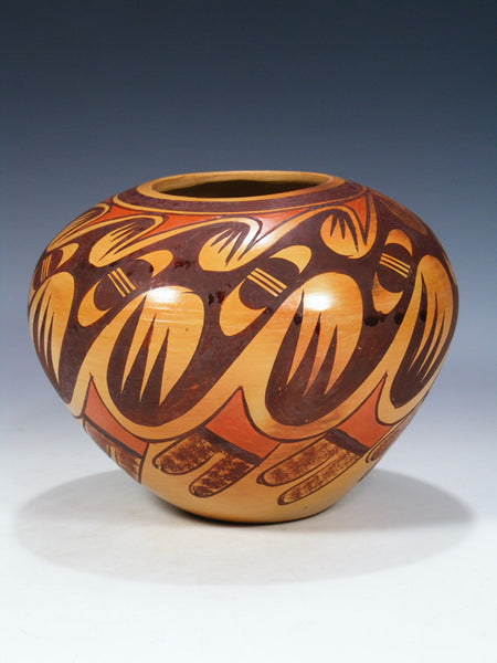 Traditional Hopi Hand Coiled Pottery Bowl