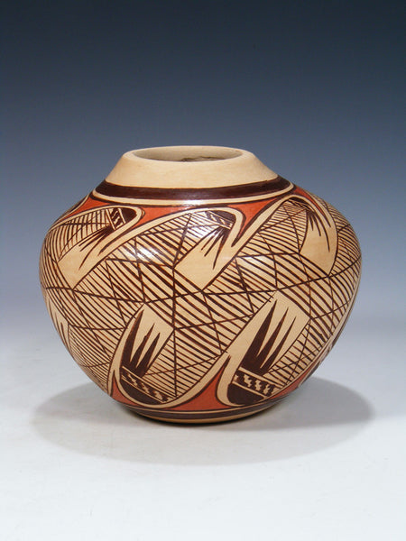 Traditional Hopi Hand Coiled Pottery Seed Pot