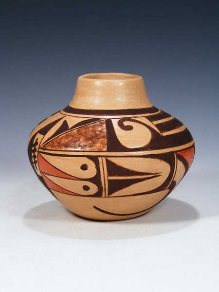 Hopi Hand Coiled Pueblo Pottery Seed Pot