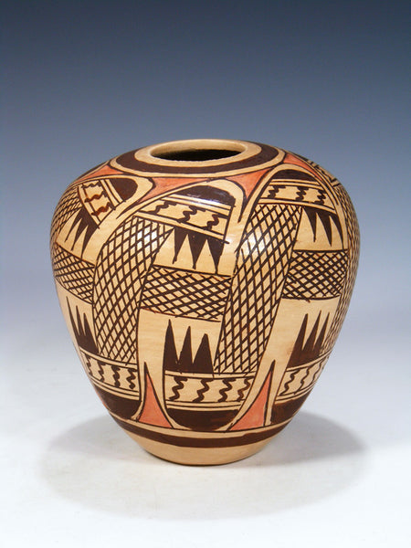 Hopi Pueblo Hand Coiled Pottery Seed Pot