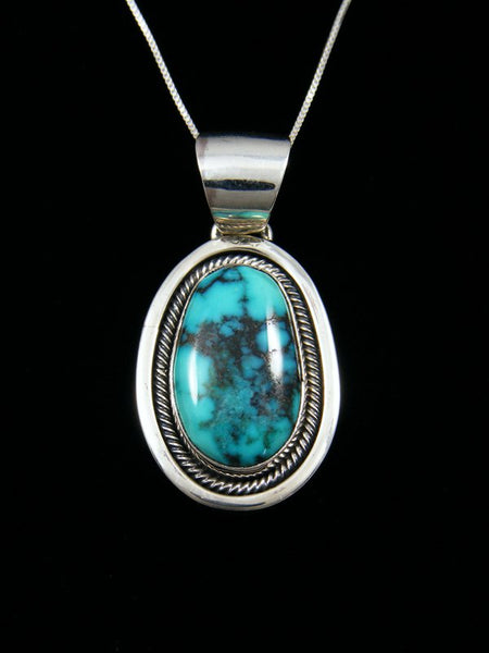 Native American Indian Jewelry Cloud Mountain Turquoise Pendant