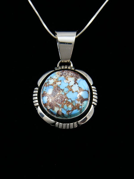 Native American Indian Jewelry Golden Hill Turquoise Pendant