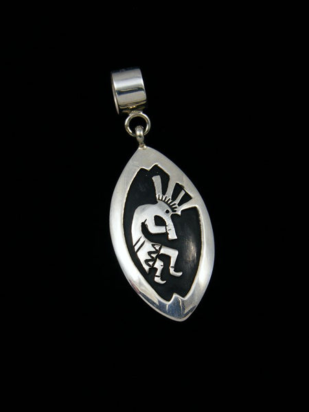 Native American Sterling Silver Overlay Kokopelli Pendant