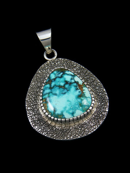 Native American Sierra Nevada Turquoise Textured Pendant