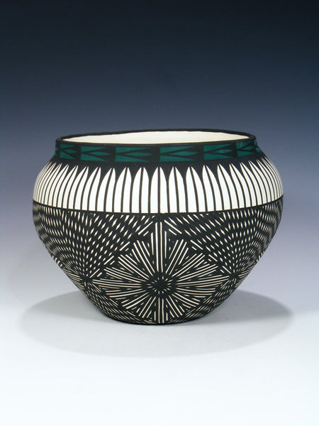Acoma Pueblo Eye Dazzler Design Pot