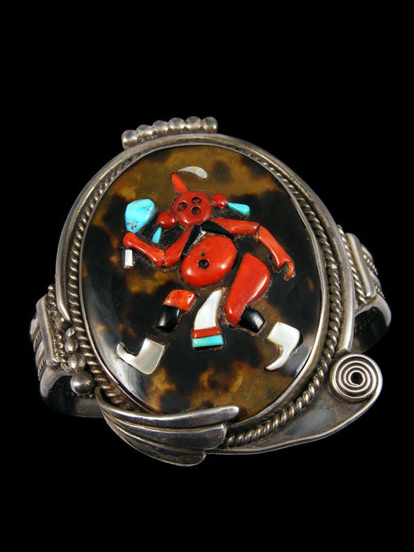 Old Pawn Indian Zuni Inlay Bracelet & Ring Set by Augustine and Rosalie Pinto - PuebloDirect.com - 1