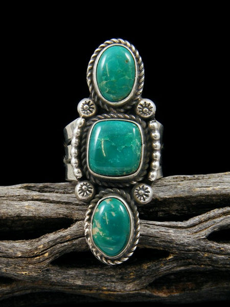 Navajo Turquoise Ring, Size 6.5