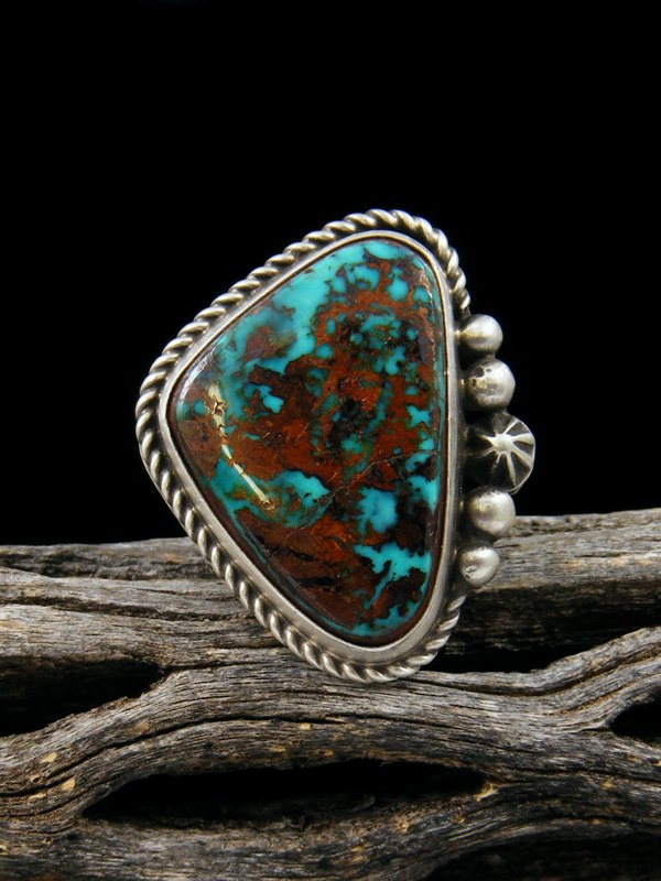 Pilot Mountain Turquoise Ring, Size 6