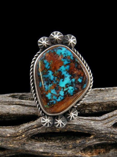 Pilot Mountain Turquoise Ring, Size 8