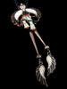 Old Pawn Indian Jewelry Sterling Silver Zuni Inlay Bolo Tie by L and V Harker - PuebloDirect.com - 2
