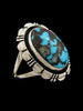 Natural Hubei Turquoise Ring by Navajo Artist - PuebloDirect.com - 2