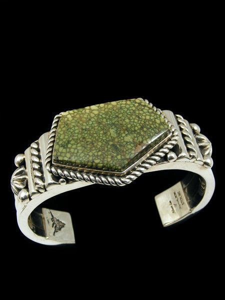 Native American Sterling Silver Damele Cuff Bracelet by Albert Lee - PuebloDirect.com - 1