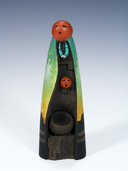 Navajo Clay Mother 1 Baby Pottery Sculpture