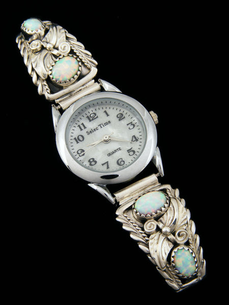 Native American Indian Opal Ladies' Watch by Thomas Yazzie - PuebloDirect.com