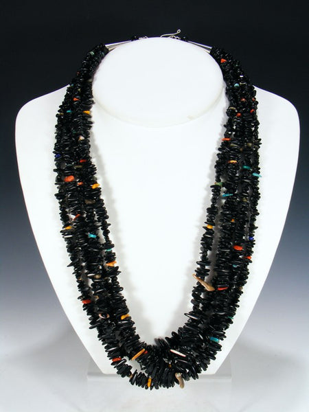 Santo Domingo Multi-Strand Jet Necklace