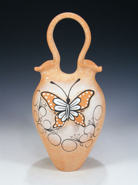 Zuni Pueblo Pottery Wedding Vase by Tony Lorenzo - PuebloDirect.com - 1