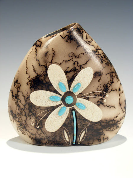 Horsehair Pottery Pillow Vase by Tom Vail - PuebloDirect.com - 1