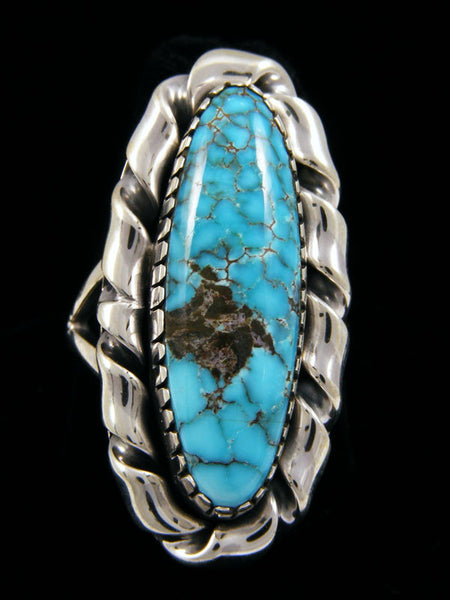 Natural Candelaria Turquoise Ring by Navajo Artist - PuebloDirect.com - 1
