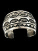 Old Pawn Indian Sterling Silver Bracelet by Marc Antia - PuebloDirect.com - 1
