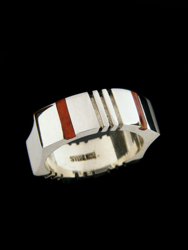 Inlay Ring by Ronnie Henry - PuebloDirect.com