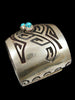 Old Pawn Hopi Overlay Bracelet by Vintage Jewelry - PuebloDirect.com - 2