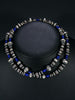 Native American Sterling Silver and Lapis Bead Necklace by Marilyn Platero - PuebloDirect.com - 2