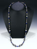 Native American Sterling Silver and Lapis Bead Necklace by Marilyn Platero - PuebloDirect.com - 1