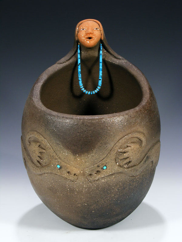 Santo Domingo Pueblo Pottery by Manuelita Lovato - PuebloDirect.com - 1