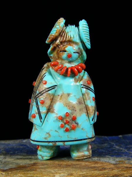 Turquoise Maiden Zuni Fetish by Claudia Peina - PuebloDirect.com - 1